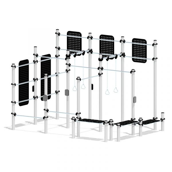 stainless steel outdoor gym